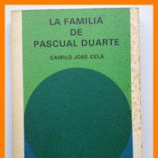 Libros de segunda mano: LA FAMILIA DE PASCUAL DUARTE - CAMILIO JOSE CELA - BIBLIOTECA GENERAL SALVAT Nº3. Lote 42626225