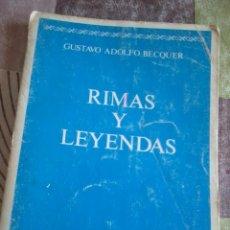 RIMAS Y LEYENDAS. GUSTAVO ADOLFO BECQUER. EST19B5