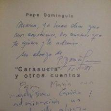 Libros de segunda mano: AUTOGRAFO DE PEPE DOMINGUIN Y MARIVI NEBREDA EN LA OBRA CARASUCIA Y OTROS CUENTOS. Lote 43142016