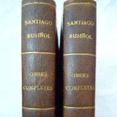 Libros de segunda mano: L- 339. SANTIAGO RUSIÑOL, OBRES COMPLETES. 2 LLIBRES, EDITORIAL SELECTA 1956.. Lote 43475258