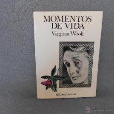 Livres d'occasion: MOMENTOS DE VIDA DE VIRGINIA WOOLF. Lote 43733374
