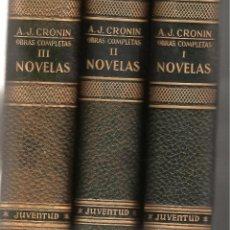 Libros de segunda mano: TRES TOMOS DE OBRAS COMPLETAS DE A.J.CRONIN -EDIT.JUVENTUD AÑO 1955 ----OCASION-----. Lote 43748996