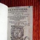 Libros de segunda mano: 1595-TRANSFORMACIONES-METAMORFOSIS.OVIDIO.CON 174 GRABADOS.EN LENGUA ESPAÑOLA.PEDRO BELLERO.ORIGINAL. Lote 43931428