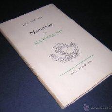 Libros de segunda mano: 1956 - JUAN RUIZ PEÑA - MEMORIAS DE MAMBRUNO - PRIMERA EDICION. Lote 43934812
