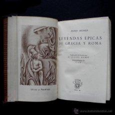 Libros de segunda mano: PCBROS - LEYENDAS ÉPICAS DE GRECIA Y ROMA - M. MEUNIER - CRISOL Nº26 - 2ªED- 1945. Lote 44370945