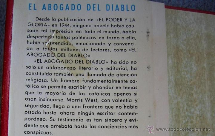 Libros de segunda mano: EL ABOGADO DEL DIABLO - MORRIS WEST. EDIT. CARALT EN 1965. - Foto 3 - 45081452