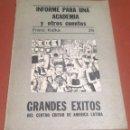 Libros de segunda mano: INFORME PARA UNA ACADEMIA Y OTROS CUENTOS FRANZ KAFKA 29. Lote 45396990