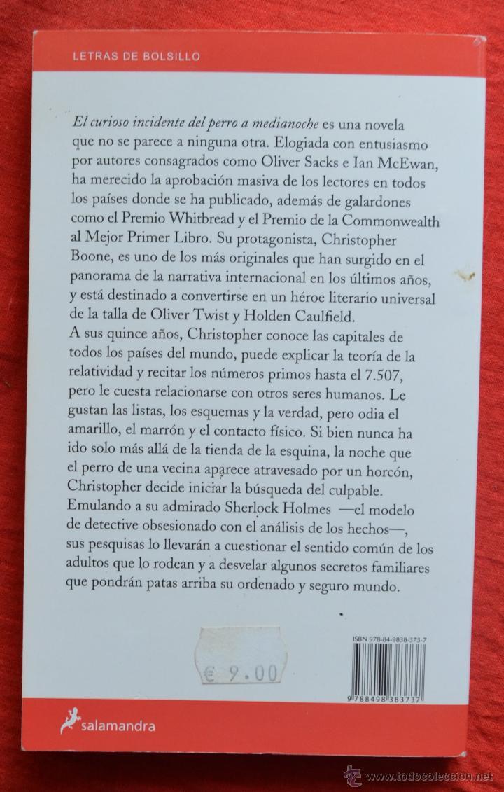 EL CURIOSO INCIDENTE DEL PERRO A MEDIANOCHE - MARK HADDON - LETRAS DE  BOLSILLO 108
