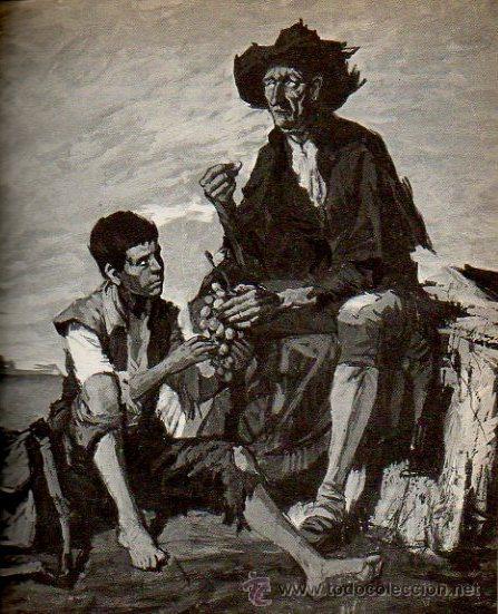 Libros de segunda mano: EL LAZARILLO DE TORMES - ADAPTACIÓN BASILIO LOSADA. ILUSTRACIONES DE C. SANROMÁ. ED. AURIGA, 1984 - Foto 4 - 46604983