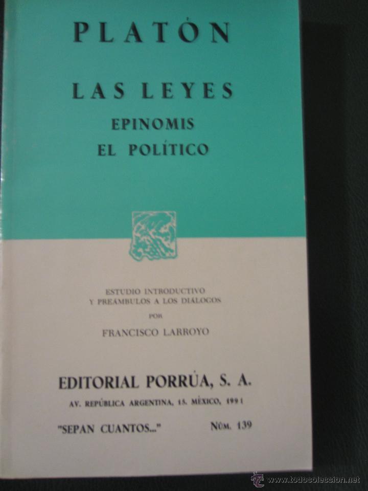 Plat n las leyes epinomis el politico e comprar en todocoleccion 47743345 - Libreria segunda mano online ...