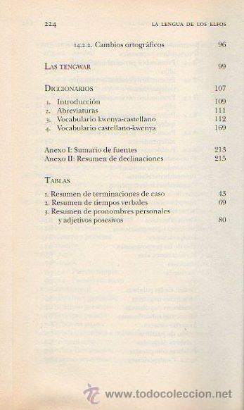 Libros de segunda mano: LA LENGUA DE LOS ELFOS. LUÍS GONZÁLEZ BAIXAULI. BIBLIOTECA TOLKIEN. PLANETA DEAGOSTINI. ED.MINOTAURO - Foto 4 - 48186685