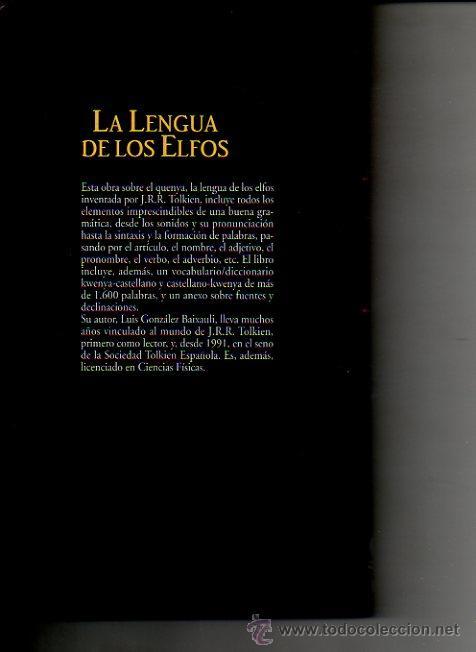 Libros de segunda mano: LA LENGUA DE LOS ELFOS. LUÍS GONZÁLEZ BAIXAULI. BIBLIOTECA TOLKIEN. PLANETA DEAGOSTINI. ED.MINOTAURO - Foto 5 - 48186685
