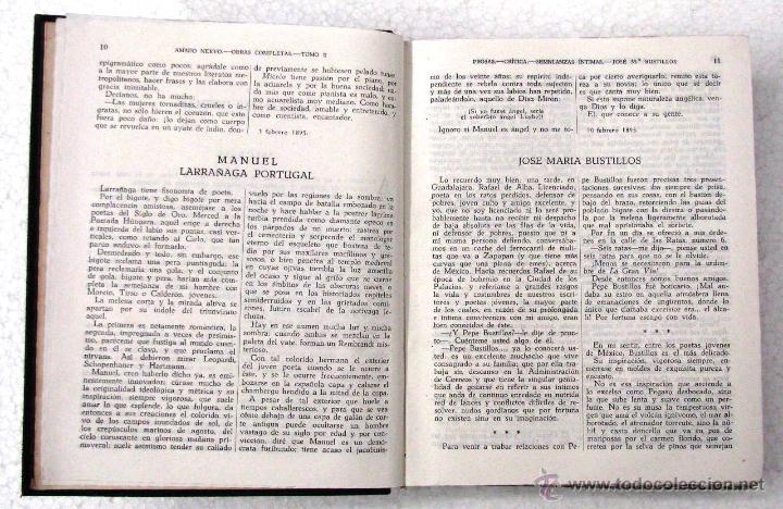 Libros de segunda mano: AMADO NERVO OBRAS COMPLETAS EN 2 TOMOS OBRAS ETERNAS 1ra EDICION ED AGUILAR MADRID AÑOS 1951 1952 - Foto 14 - 237002095