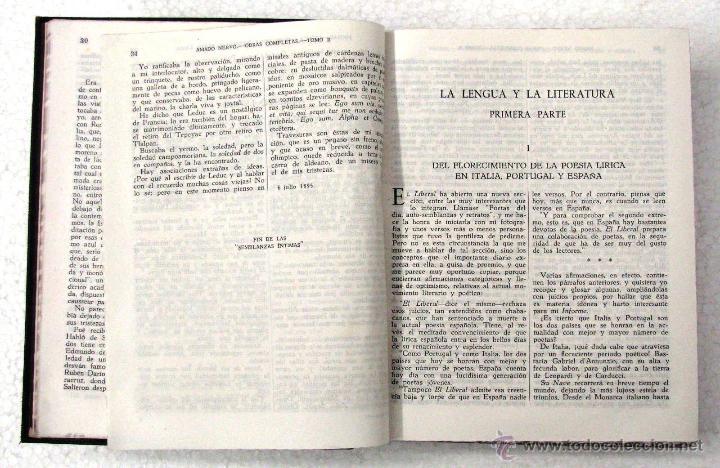 Libros de segunda mano: AMADO NERVO OBRAS COMPLETAS EN 2 TOMOS OBRAS ETERNAS 1ra EDICION ED AGUILAR MADRID AÑOS 1951 1952 - Foto 15 - 237002095