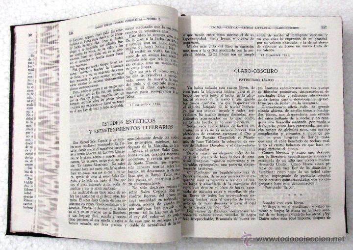 Libros de segunda mano: AMADO NERVO OBRAS COMPLETAS EN 2 TOMOS OBRAS ETERNAS 1ra EDICION ED AGUILAR MADRID AÑOS 1951 1952 - Foto 17 - 237002095