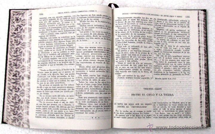 Libros de segunda mano: AMADO NERVO OBRAS COMPLETAS EN 2 TOMOS OBRAS ETERNAS 1ra EDICION ED AGUILAR MADRID AÑOS 1951 1952 - Foto 18 - 237002095