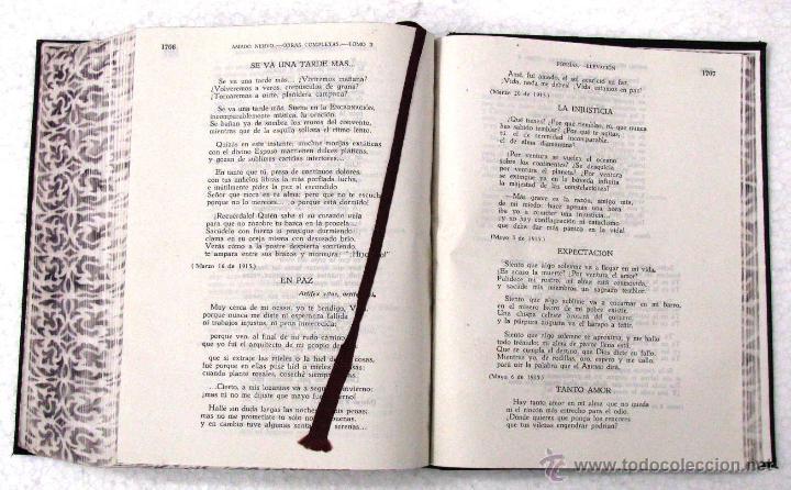Libros de segunda mano: AMADO NERVO OBRAS COMPLETAS EN 2 TOMOS OBRAS ETERNAS 1ra EDICION ED AGUILAR MADRID AÑOS 1951 1952 - Foto 20 - 237002095