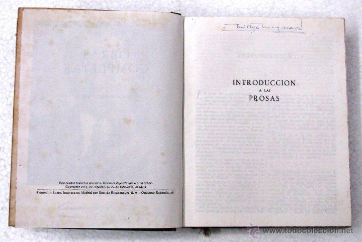 Libros de segunda mano: AMADO NERVO OBRAS COMPLETAS EN 2 TOMOS OBRAS ETERNAS 1ra EDICION ED AGUILAR MADRID AÑOS 1951 1952 - Foto 34 - 237002095