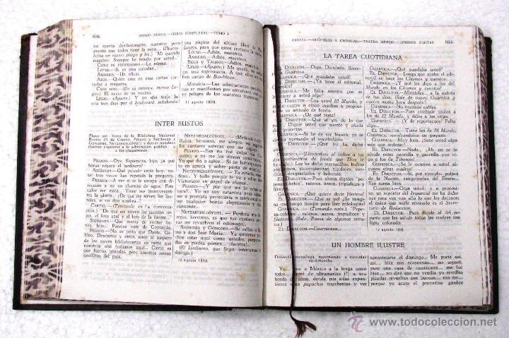 Libros de segunda mano: AMADO NERVO OBRAS COMPLETAS EN 2 TOMOS OBRAS ETERNAS 1ra EDICION ED AGUILAR MADRID AÑOS 1951 1952 - Foto 37 - 237002095