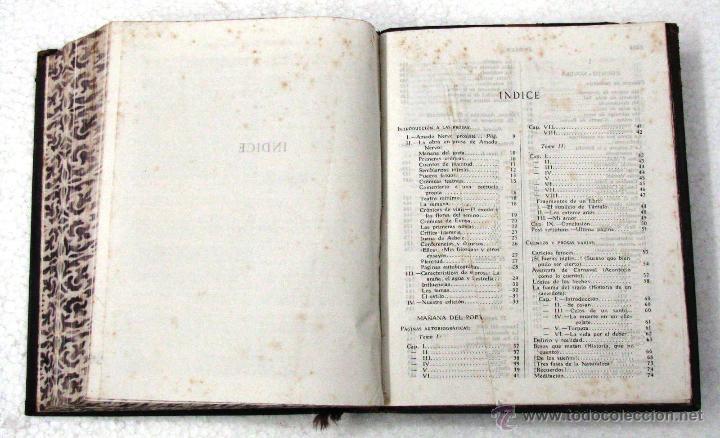 Libros de segunda mano: AMADO NERVO OBRAS COMPLETAS EN 2 TOMOS OBRAS ETERNAS 1ra EDICION ED AGUILAR MADRID AÑOS 1951 1952 - Foto 40 - 237002095