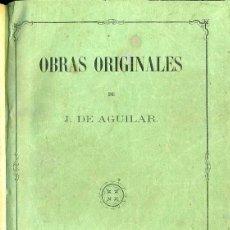 Libros de segunda mano: J. DE AGUILAR : DIARIO DE UN SOLTERO / INDIFERENCIA Y EGOÍSMO / RELATOS (TARRAGONA, 1862). Lote 48585049