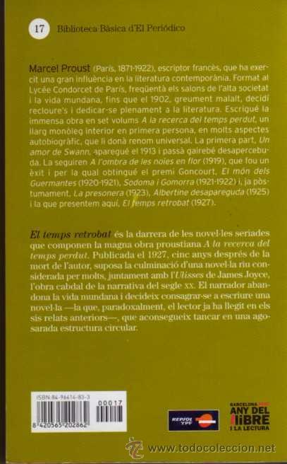 Libros de segunda mano: EL TEMPS RETROBAT - MARCEL PROUST - EDICIONS 62 - AÑO 2005 - EN CATALÁN - Foto 2 - 48653995