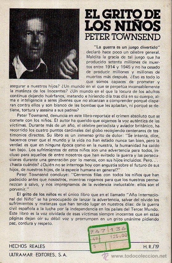 Libros de segunda mano: EL GRITO DE LOS NIÑOS - PETER TOWNSEND. ULTRAMAR EDITORES, 1980 - Foto 5 - 49541066