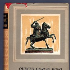 Livres d'occasion: HISTORIA DE ALEJANDRO MAGNO. QUINTO CURCIO RUFO. OBRAS MAESTRAS. 1960.. Lote 49645843