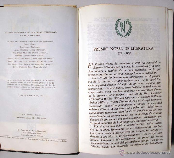 Libros de segunda mano: EUGENE O´NEILL. TEATRO ESCOGIDO. AGUILAR. - Foto 7 - 49782821