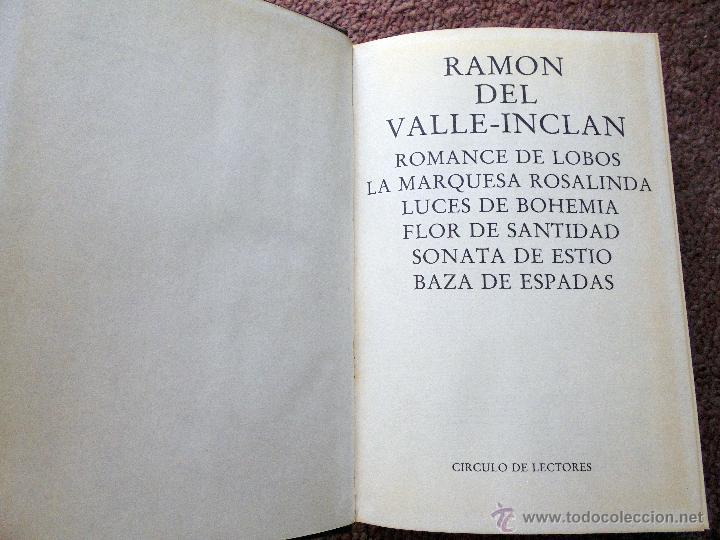Libros de segunda mano: DEL VALLE-INCLAN, RAMON: OBRAS SELECTAS - Foto 2 - 50259188