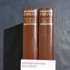 Libros de segunda mano: 2 TOMOS:OBRAS COMPLETAS DE EMILE ZOLA-EDICIONES NAUTA-AÑO 1972-BARCELONA- 2 TOMOS:. Lote 50452518