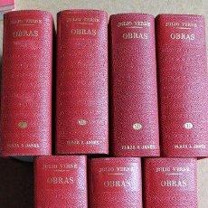 Libros de segunda mano: OBRAS. VERNE (JULIO) BARCELONA, PLAZA & JANÉS, 1968-1971.. Lote 51358610