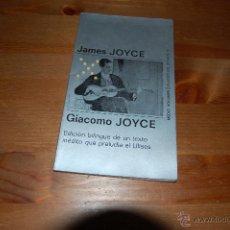 Libros de segunda mano: GIACOMO JOYCE. JAMES JOYCE. CUADERNOS ÍNFIMOS TUSQUETS Nº 15. Lote 51630532