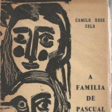 Libros de segunda mano: CAMILO XOSÉ CELA. A FAMILIA DE PASCUAL DUARTE. RM71904. . Lote 52550265