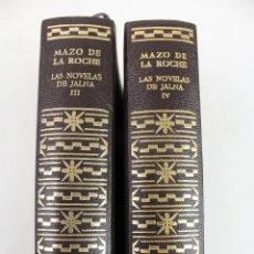 Libros de segunda mano: L-2799. MAZO DE LA ROCHE. LAS NOVELAS DE JALNA. VOLUMENES III Y IV. AGUILAR. AÑO 1963.. Lote 52940320