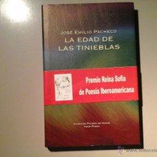 Libros de segunda mano: JOSÉ EMILIO PACHECO. LA EDAD DE LAS TINIEBLAS. PRIMERA EDICIÓN 2009.VISOR. DISEÑO E ILUST: JUAN VIDA. Lote 53187193