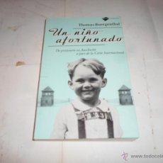 Libros de segunda mano: THOMAS BUERGENTHAL, EL NIÑO AFORTUNADO, ED. PLATAFORMA. Lote 53200987