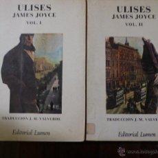 Libros de segunda mano: ULISES. JAMES JOYCE. 2 VOL.. Lote 53276533