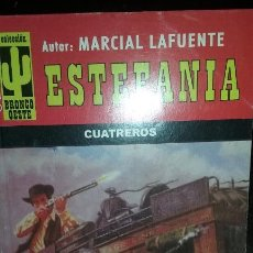 Libros de segunda mano: NOVELA DEL OESTE. MARCIAL LAFUENTE ESTEFANIA. CUATREROS. COLECCIÓN: BRONCO OESTE. Lote 53602065