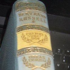 Libros de segunda mano: OBRAS ESCOGIDAS BERTRAND RUSSELL EDIT AGUILAR AÑO 1956. Lote 53677319