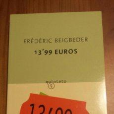 Libros de segunda mano: FREDERIC BEIGBEDER. 13,99 €. . Lote 53749560
