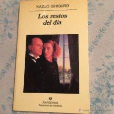 Libros de segunda mano: LOS RESTOS DEL DIA -KAZUO ISHIGURO ,ANAGRAMA 251 PAGINAS. Lote 53961553