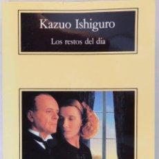 Libros de segunda mano: LOS RESTOS DEL DÍA. KAZUO ISHIGURO. ANAGRAMA. Lote 54114688