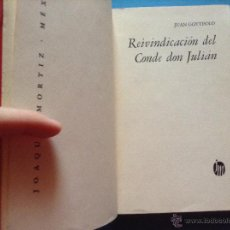 Libros de segunda mano: REIVINDICACION DEL CONDE DON JULIAN JUAN GOYTISOLO PRIMERA EDICION. Lote 54443649