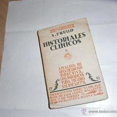 Libros de segunda mano: FREUD, OBRAS COMPLETAS, HISTORIALES CLINICOS, TOMO II. Lote 54847096