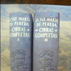 Libros de segunda mano: OBRAS COMPLETAS. JOSE MARIA DE PEREDA. 2 VOL. AGUILAR, 1954.. Lote 54943211