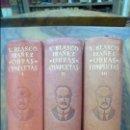 Libros de segunda mano: VICENTE BLASCO IBÁÑEZ. OBRAS COMPLETAS. 3 VOL. AGUILAR. 1946. Lote 54945515