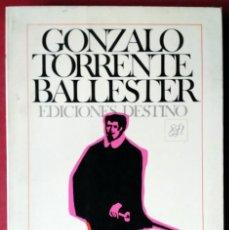 Libros de segunda mano: GONZALO TORRENTE BALLESTER . DON JUAN. Lote 55130048