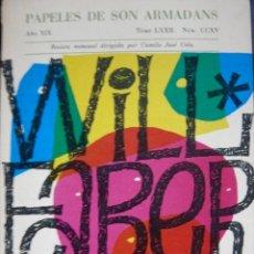 Libros de segunda mano: PAPELES DE SON ARMADANS Nº CCXV 1974 AÑO XIX TOMO LXXII WILL FABER. Lote 55256206