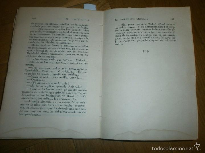 Libros de segunda mano: EL VIOLÍN DEL CÍNGARO- M. DELLY. PRIMERA EDICIÓN (SIN FECHA) EDITORIAL PUEYO - Foto 5 - 55368895